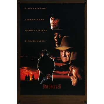 UNFORGIVEN Original Movie Poster - 27x40 in. - 1992 - Clint Eastwood, Gene Hackman