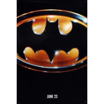 BATMAN Affiche de film Teaser Mat - 69x102 cm. - 1989 - Jack Nicholson, Tim Burton
