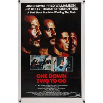 ONE DOWN TWO TO GO Original Movie Poster - 27x40 in. - 1982 - Fred Williamson, Jim Brown, Jim Kelly