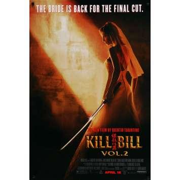 KILL BILL 2 Affiche de film Préventive - 69x102 cm. - 2004 - Uma Thurman, Quentin Tarantino