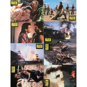 DELTA FORCE 2 Photos de film x8 - 21x30 cm. - 1990 - Chuck Norris, Aaron Norris