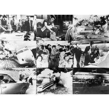 SUPER EXPRESS 109 Photos de presse x9 - 18x24 cm. - 1975 - Ken Takakura, Sonny Chiba, Jun'ya Sato