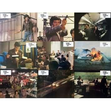 SUPER EXPRESS 109 Photos de film x9 - 21x30 cm. - 1975 - Ken Takakura, Sonny Chiba, Jun'ya Sato