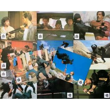 AMERICAN NINJA 2 Original Lobby Cards x11 - 9x12 in. - 1987 - Sam Firstenberg, Michael Dudikoff