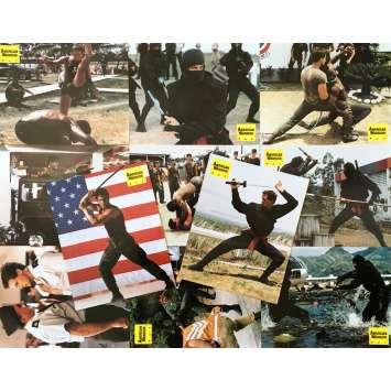 AMERICAN NINJA Original Lobby Cards x11 - 9x12 in. - 1985 - Sam Firstenberg, Michael Dudikoff