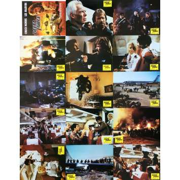 THE DELTA FORCE Original Lobby Cards x14 - 9x12 in. - 1986 - Chuck Norris, Lee Marvin