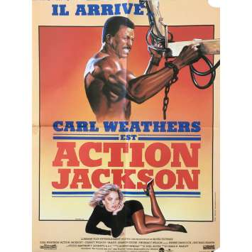 ACTION JACKSON Original Movie Poster - 15x21 in. - 1988 - Craig R. Baxley, Carl Weathers