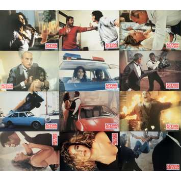 ACTION JACKSON Original Lobby Cards x12 - 9x12 in. - 1988 - Craig R. Baxley, Carl Weathers