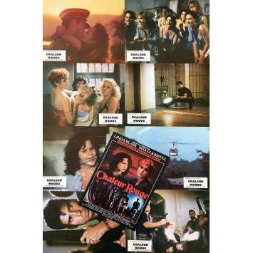 CHALEUR ROUGE Photos de film x8 - 21x30 cm. - 1985 - Linda Blair, Robert Collector