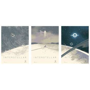 INTERSTELLAR Limited Imax Posters AMC - 12x16 in. - 2014 - Christopher Nolan, Matthew McConaughey