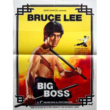 BRUCE LEE Big Boss Affiche Originale R79 40x60 French movie Poster