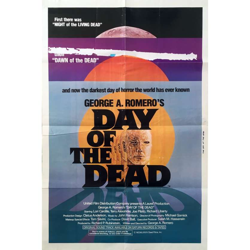 THE DAY OF THE DEAD Original Movie Poster - 27x40 in. - 1985 - George A. Romero, Lori Cardille