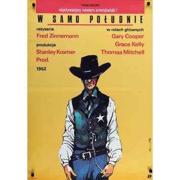 LE TRAIN SIFFLERA TROIS FOIS Affiche de film - 70x100 cm. - R1980 - Gary Cooper, Fred Zinnemann