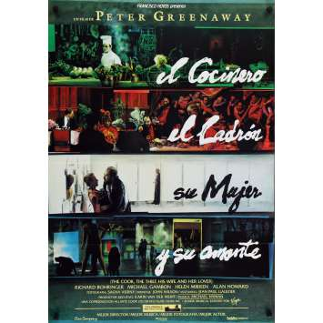 THE COOK, THE THIEF, HIS WIFE AND LOVER Original Movie Poster - 29x40 in. - 1989 - Peter Greenaway, Michael Gambon
