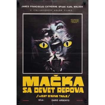 LE CHAT A NEUF QUEUES Affiche de film - 50x70 cm. - 1971 - James Franciscus, Dario Argento