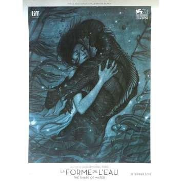 THE SHAPE OF WATER Rare Advance French Movie Poster 15x21 in. - 2017 - Guillermo Del Toro