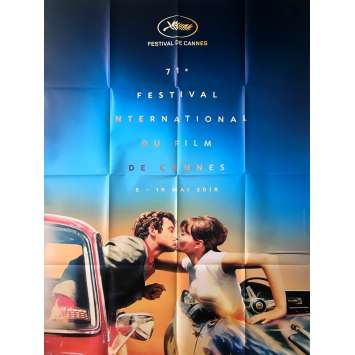 71th CANNES FILM FESTIVAL Poster - 47x63 in. - 2017 - Belmondo, Karina, RARE!