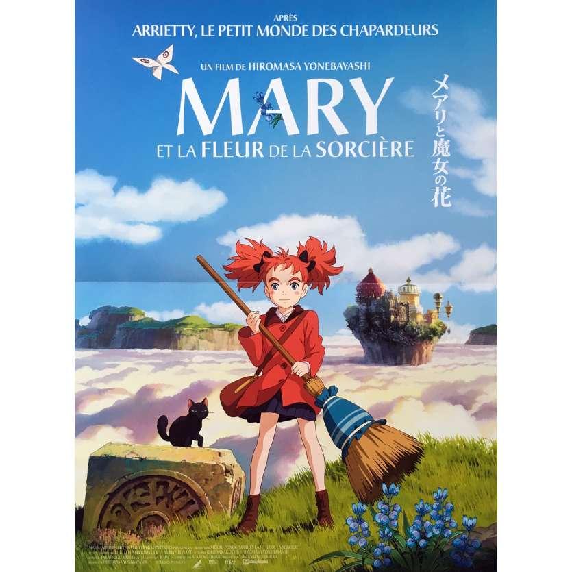 MARIE ET LA FLEUR DE LA SORCIERE Affiche de film - 40x60 cm. - 2017 - Hana Sugisaki, Hiromasa Yonebayashi
