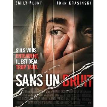 SANS UN BRUIT Affiche de film - 120x160 cm. - 2018 - Emily Blunt, John Krasinski