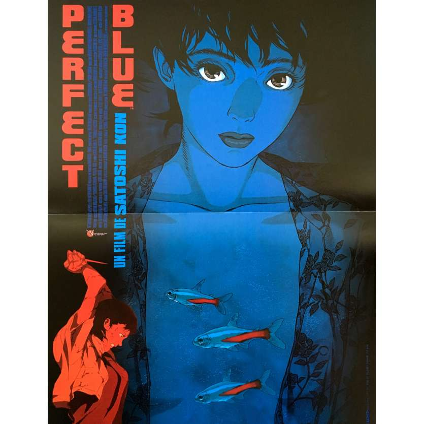 PERFECT BLUE Affiche 40x60 '98 Satoshi Kon Manga Original Movie Poster