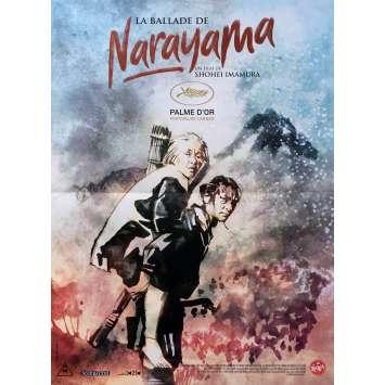 THE BALLAD OF NARAYAMA Original Movie Poster - 15x21 in. - 1983 - Shôhei Imamura, Ken Ogata
