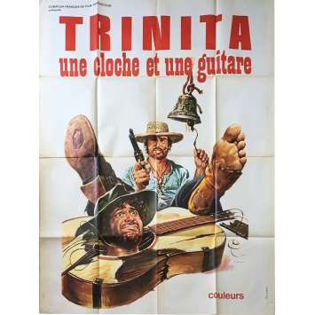 TRINITA, UNE CLOCHE ET UNE GUITARE Affiche de film - 120x160 cm. - 1975 - George Hilton, Franz Antel