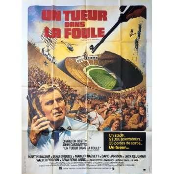 UN TUEUR DANS LA FOULE Affiche de film - 120x160 cm. - 1976 - Charlton Heston, Larry Peerce