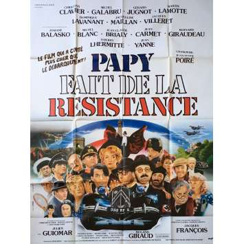 GRAMPS IN THE RESISTANCE Original Movie Poster - 47x63 in. - 1983 - Jean-Marie Poiré, Christian Clavier