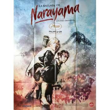 THE BALLAD OF NARAYAMA Original Movie Poster - 47x63 in. - 1983 - Shôhei Imamura, Ken Ogata
