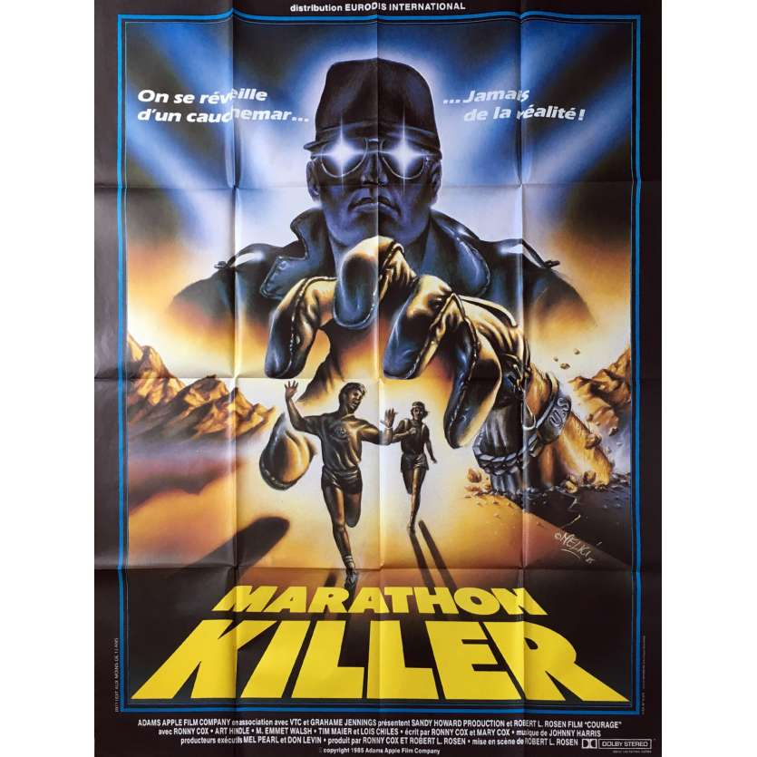 MARATHON KILLER Affiche de film - 120x160 cm. - 1984 - Ronny Cox, Robert L. Rosen