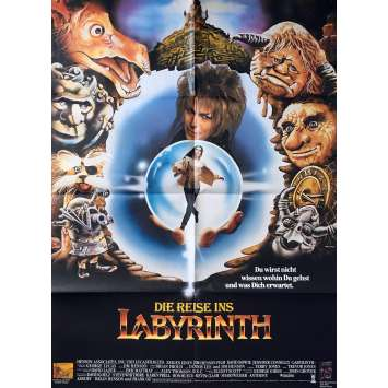 LABYRINTH Original Movie Poster - 33x47 in. - 1986 - Jim Henson, David Bowie