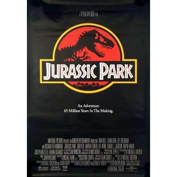JURASSIC PARK Original Movie Poster - 27x40 in. - 1993 - Steven Spielberg, Sam Neil
