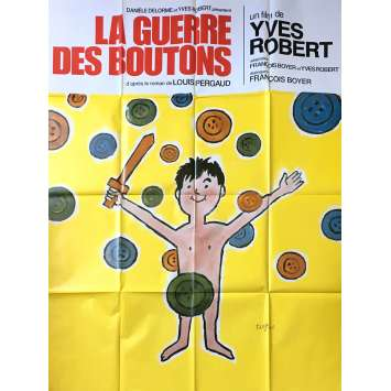 WAR OF THE BUTTONS French Movie Poster 47x63 - R1980 - Yves Robert, Jacques Dufilho