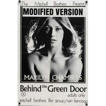 BEHIND THE GREEN DOOR Original Movie Poster - 27x40 in. - 1972 - Mitchell Bros, Marilyn Chambers