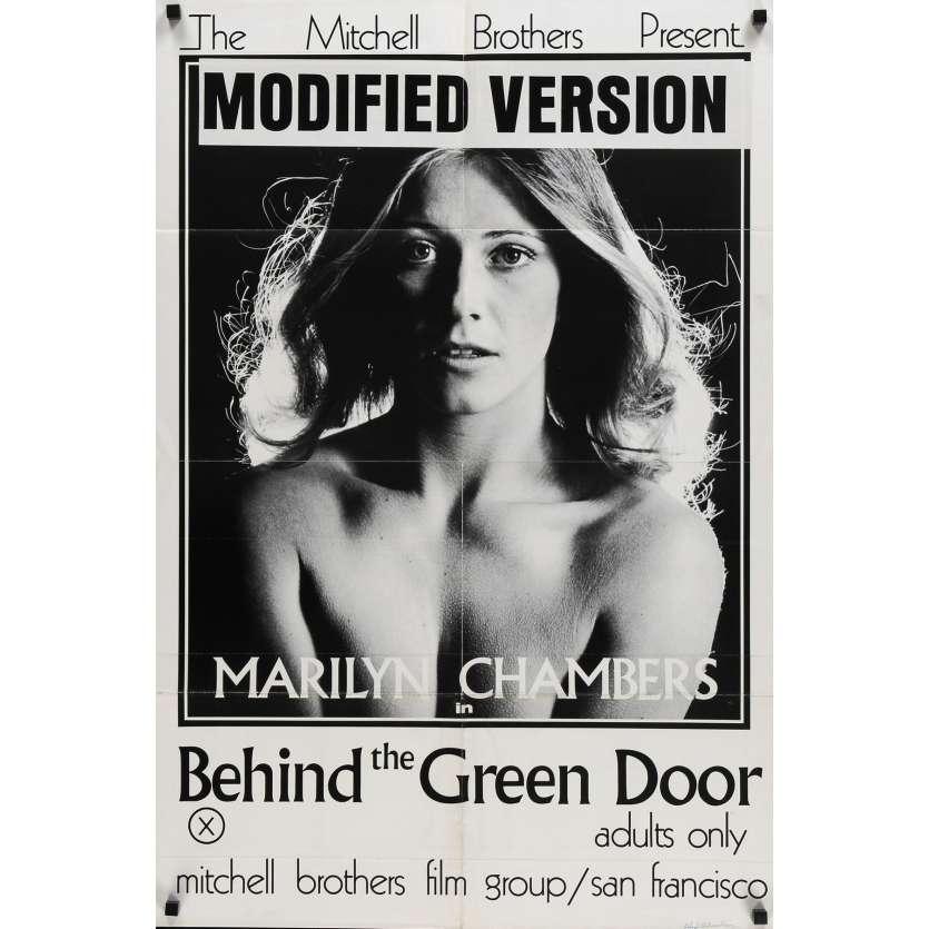 DERRIERE LA PORTE VERTE Affiche de film - 69x102 cm. - 1972 - Marilyn Chambers, Mitchell Bros