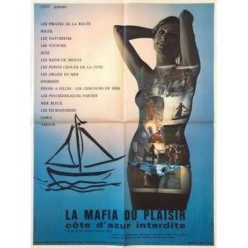 COTE D'AZUR INTERDITE Affiche de film - 60x80 cm. - 1971 - Dominique Paturel, Jean-Claude Roy