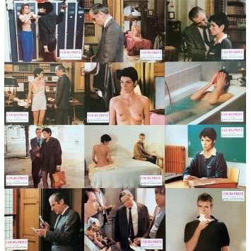 COURS PRIVE Photos de film x12 - 21x30 cm. - 1986 - Elisabeth Bourgine, Pierre Granier-Deferre