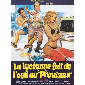 LA LYCEENNE FAIT DE L'ŒIL AU PROVISEUR Affiche de film - 40x60 cm. - 1980 - Lino Banfi, Mariano Laurenti