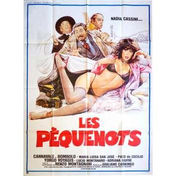 LES PEQUENOTS Affiche de film 120x160 - 1981 - Nadia Cassini, Cannavale, Giuliano Carnimeo