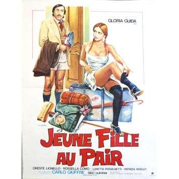 JEUNE FILLE AU PAIR Affiche de film 40x60 - 1980 - Gloria Guida, Oreste Lionello, Mino Guerrini