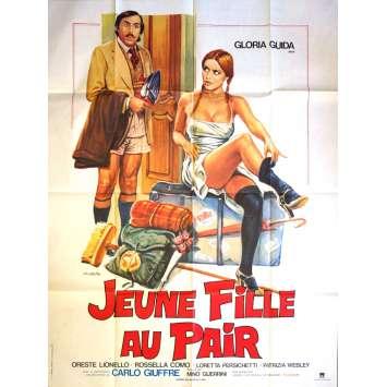 JEUNE FILLE AU PAIR Affiche de film 120x160 - 1980 - Gloria Guida, Oreste Lionello, Mino Guerrini