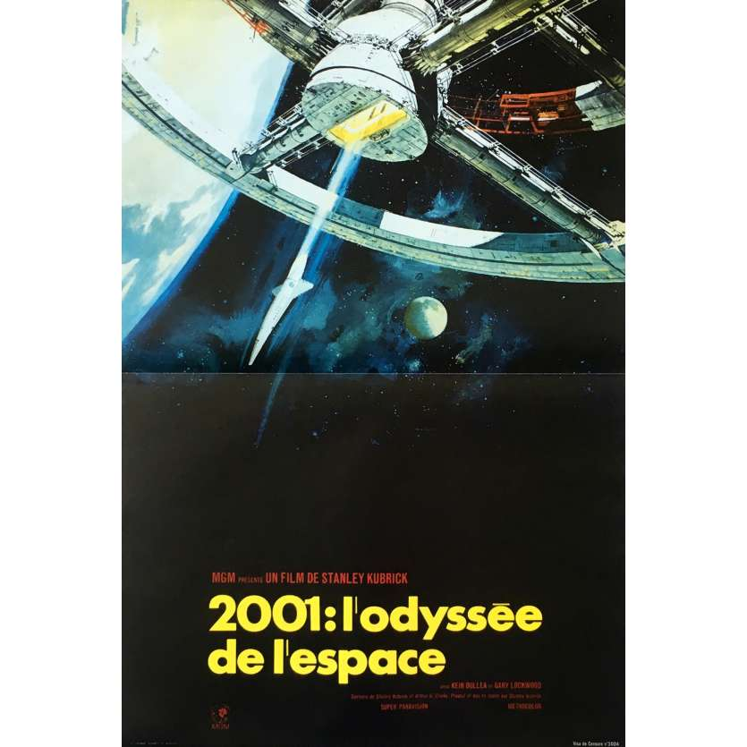 2001 A SPACE ODYSSEY French Movie Poster 15x21 - R1990 - Stanley Kubrick, Keir Dullea