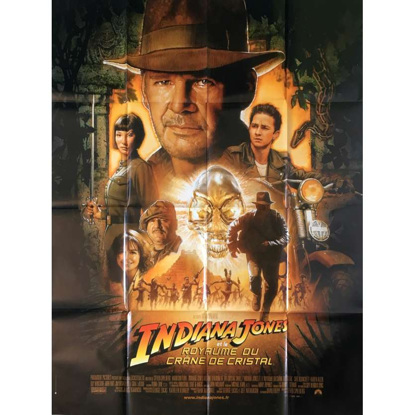INDIANA JONES AND THE KINGDOM OF THE CRYSTAL SKULL French Huge Movie Poster