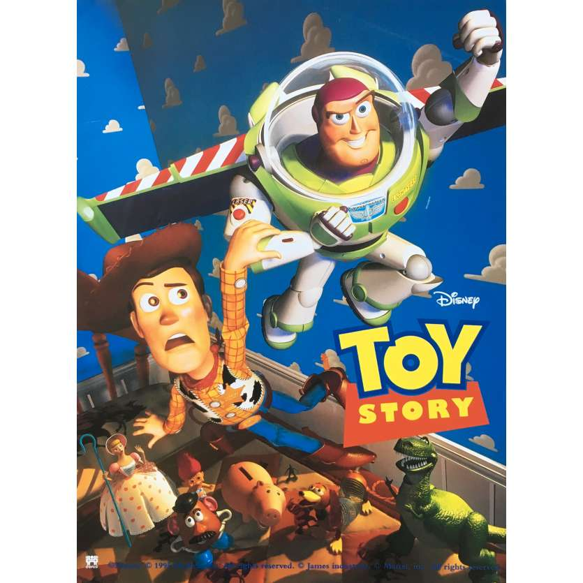 TOY STORY Affiche de film 40x60 - 1995 - Tom Hanks, John Lasseter