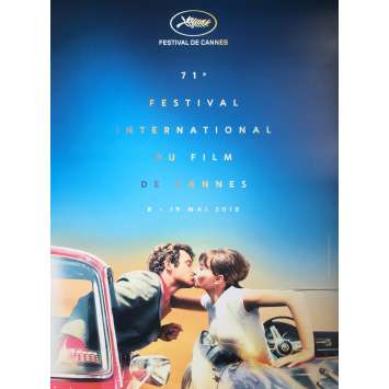 71th CANNES FILM FESTIVAL Poster - 15x21 in. - 2018 - Belmondo, Karina, RARE!