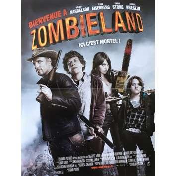 ZOMBIELAND Original Movie Poster - 15x21 in. - 2009 - Ruben Fleischer, Woody Harrelson