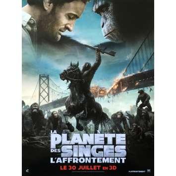 LA PLANETE DES SINGES : L'AFFRONTEMENT Affiche de film Style A - 40x60 cm. - 2014 - Gary Oldman, Matt Reeves
