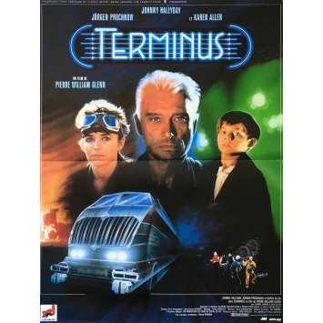 TERMINUS Original Movie Poster - 15x21 in. - 1987 - Pierre-William Glenn, Johnny Hallyday