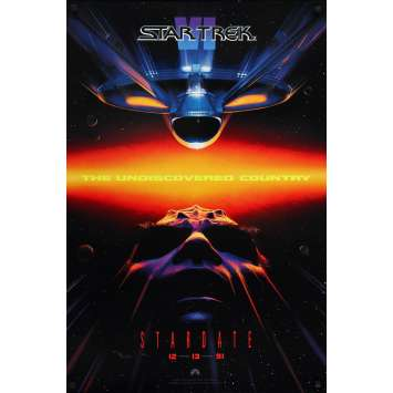 STAR TREK VI Original Movie Poster - 27x40 in. - 1991 - Nicholas Meyer, William Shatner