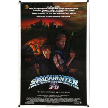 SPACEHUNTER Original Movie Poster - 27x40 in. - 1983 - Lamont Johnson, Peter Strauss